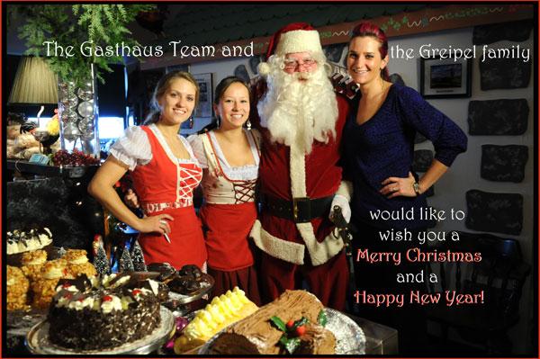 Olga, Jill, Santa and Viki